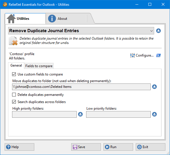 Remove Duplicate Journal Entries