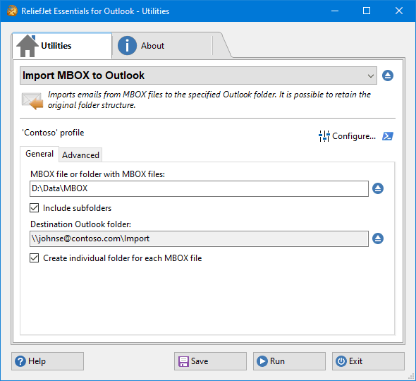 Import Messages from MBOX Files