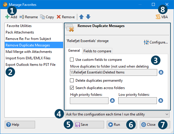 Online Help - ReliefJet for Outlook
