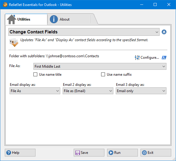 Change Contact Fields