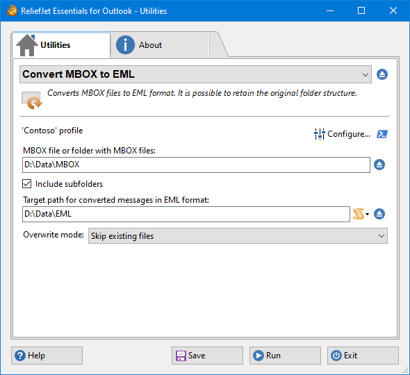 Convert MBOX to EML Files