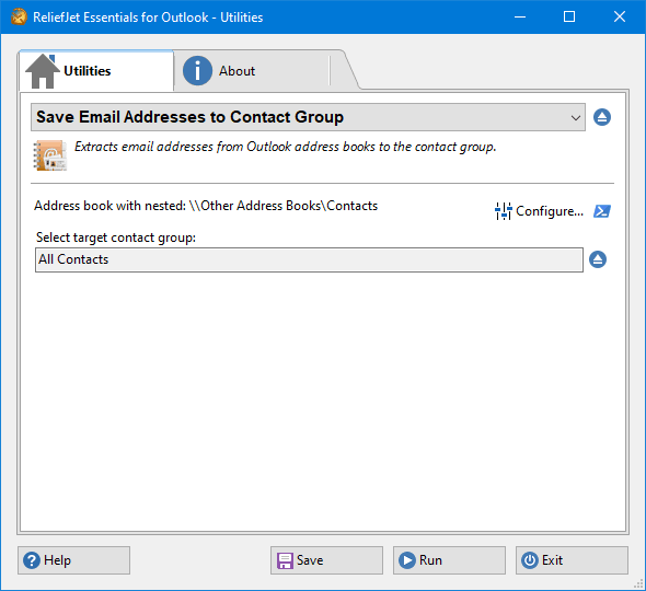 Save Email Addresses to Contact Group