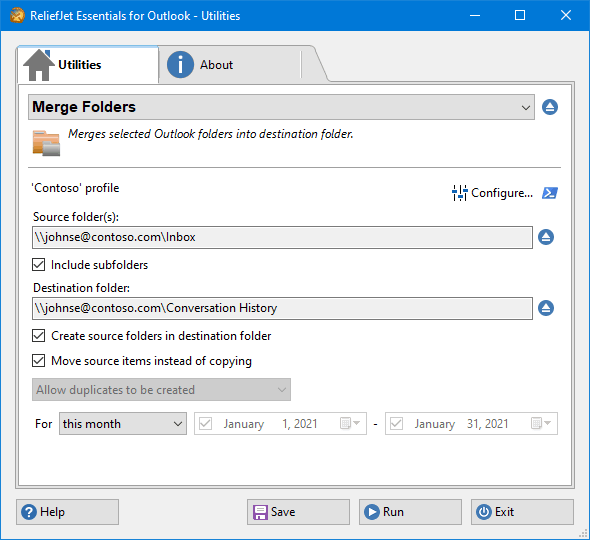 how to merge and delete duplicate outlook pst files